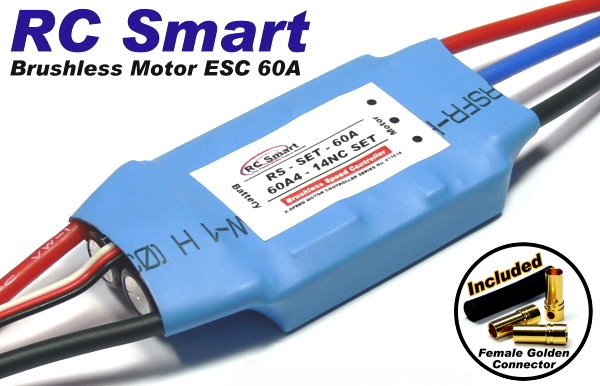 Picture of RC Model Airplane / Helicopter 60A Brushless Motor Speed Controller ESC SL025