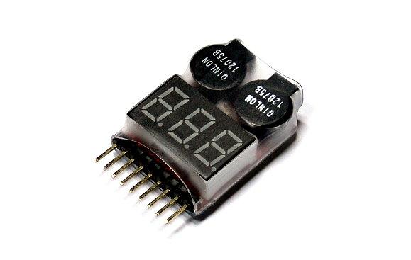 RC Model 2in1 8S LiPo Battery R/C Hobby LED Tester & Alarm BK190