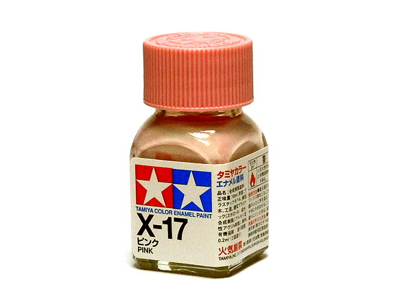 2x Tamiya Model Color Enamel Paint X-17 Pink Net 10ml 80017 CA452