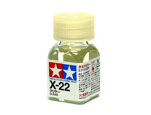 2x Tamiya Model Color Enamel Paint X-22 Clear Net 10ml 80022 CA447