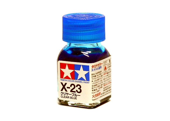 2x Tamiya Model Color Enamel Paint X-23 Clear Blue Net 10ml 80023 CA446