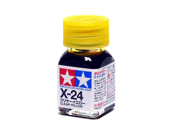 2x Tamiya Model Color Enamel Paint X-24 Clear Yellow Net 10ml 80024 CA445