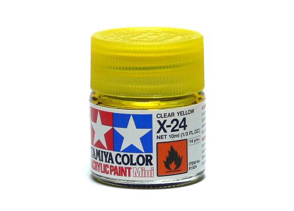 2x Tamiya Model Color Acrylic Paint X-24 Clear Yellow Net 10ml 81524 CA390