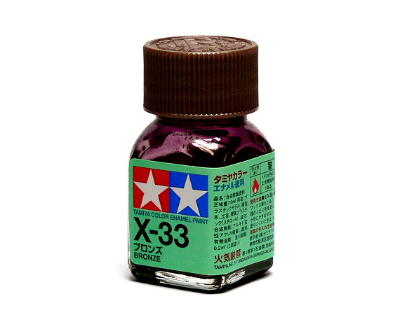 2x Tamiya Model Color Enamel Paint X-33 Bronze Net 10ml 80033 CA438
