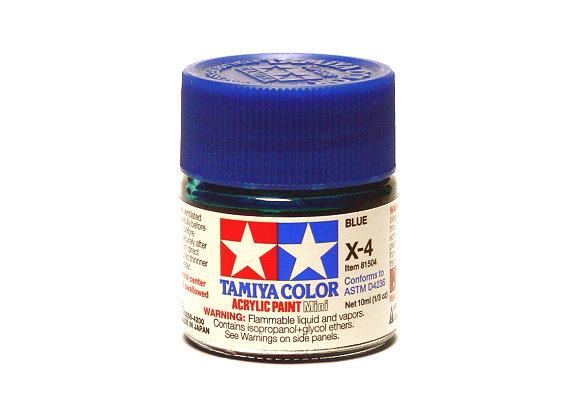 2x Tamiya Model Color Acrylic Paint X-4 Blue Net 10ml 81504 CA406