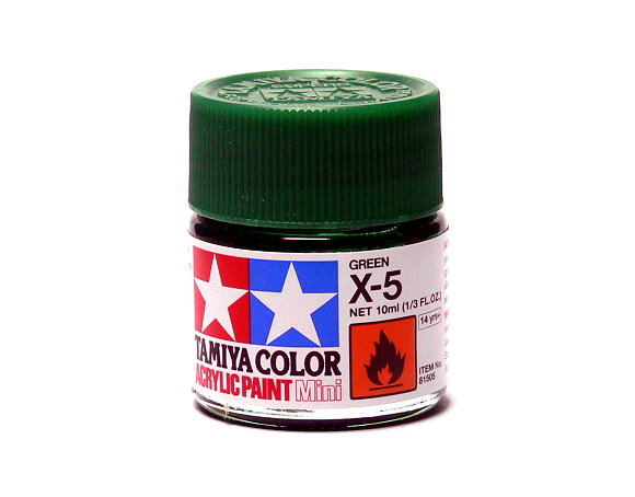 2x Tamiya Model Color Acrylic Paint X-5 Green Net 10ml 81505 CA405