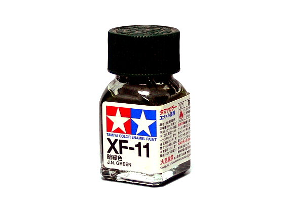 2x Tamiya Model Color Enamel Paint XF-11 J.N Green Net 10ml 80311 CA369