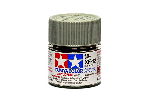 2x Tamiya Model Color Acrylic Paint XF-12 J.N. Grey Net 10ml 81712 CA322