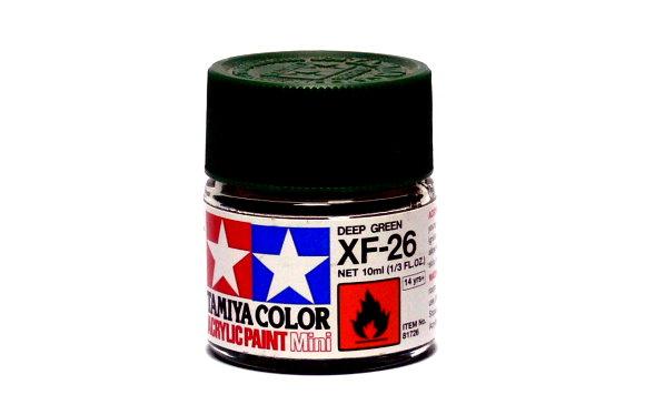 2x Tamiya Model Color Acrylic Paint XF-26 Deep Green Net 10ml 81726 CA310