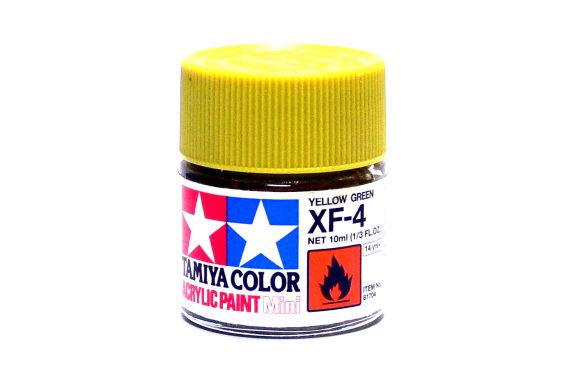 2x Tamiya Model Color Acrylic Paint XF-4 Yellow Green Net 10ml 81704 CA328