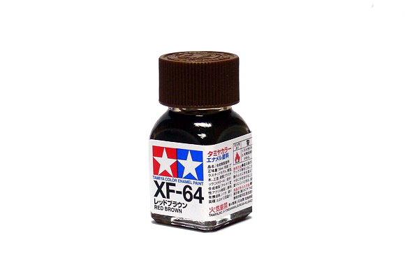 2x Tamiya Model Color Enamel Paint XF-64 Red Brown Net 10ml 80364 CA336