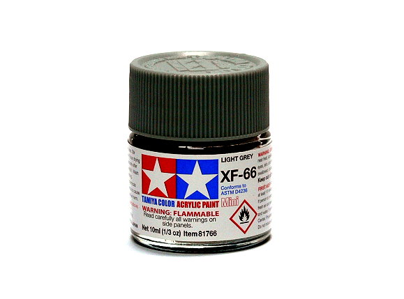 2x Tamiya Model Color Acrylic Paint XF-66 Light Grey Net 10ml 81766 CA293