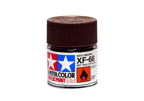 2x Tamiya Model Color Acrylic Paint XF-68 Nato Brown Net 10ml 81768 CA291