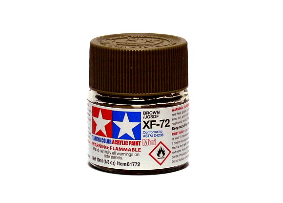 2x Tamiya Model Color Acrylic Paint XF-72 Brown Net 10ml 81772 CA288