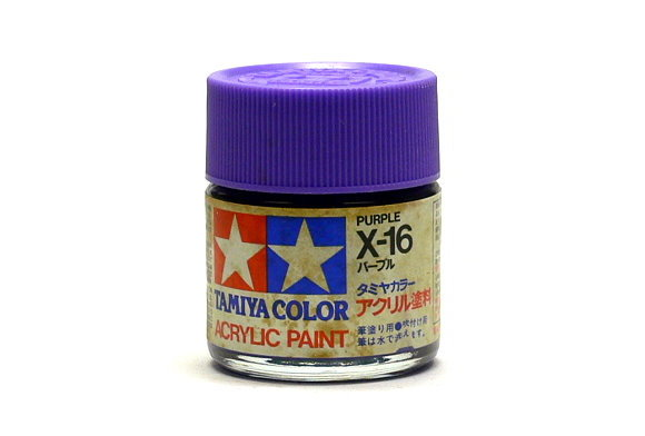 2x Tamiya Model Color Acrylic Paint X-16 Purple Net 23ml 81016 CA423