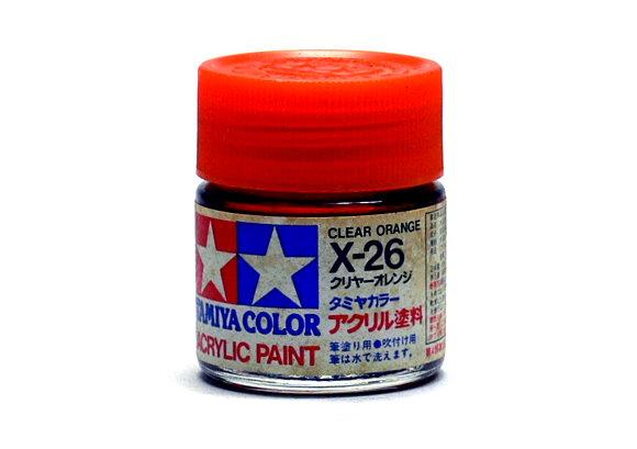 2x Tamiya Model Color Acrylic Paint X-26 Clear Orange Net 23ml 81026 CA416
