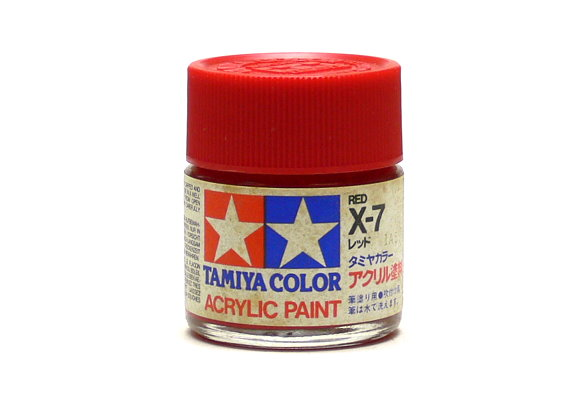 2x Tamiya Model Color Acrylic Paint X-7 Red Net 23ml 81007 CA430