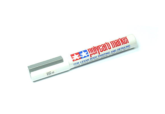 2x Tamiya Polycarb Marker PM-12 Silver for Lexan Body Painting 88012 CA228
