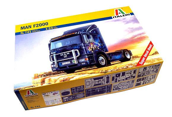 ITALERI Truck & Trailers Model 1/24 Man F2000 Scale Hobby 741 T0741
