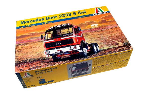 ITALERI Truck & Trailers Model 1/24 Mercedes-Benz 2238 S 6x4 Hobby 757 T0757