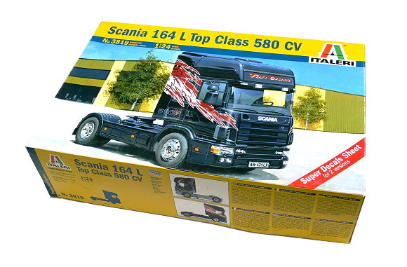 ITALERI Truck & Trailers Model 1/24 Scania 164 L Top Class 580 CV 3819 T3819