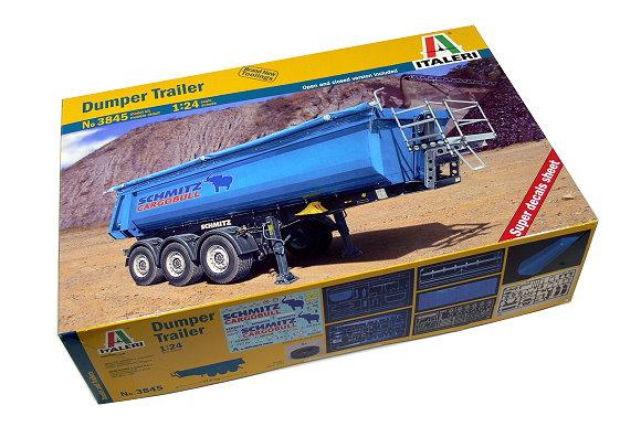 ITALERI Truck & Trailers Model 1/24 Dumper Trailer Scale Hobby 3845 T3845