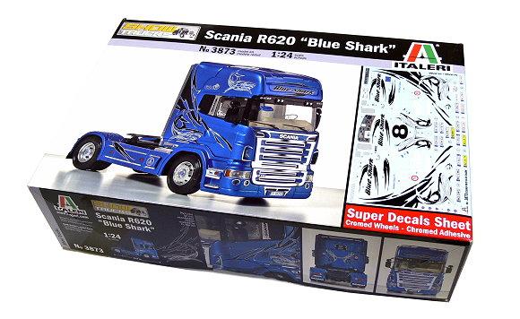 ITALERI Truck & Trailers Model 1/24 Scania R620 Blue Shark Hobby 3873 T3873