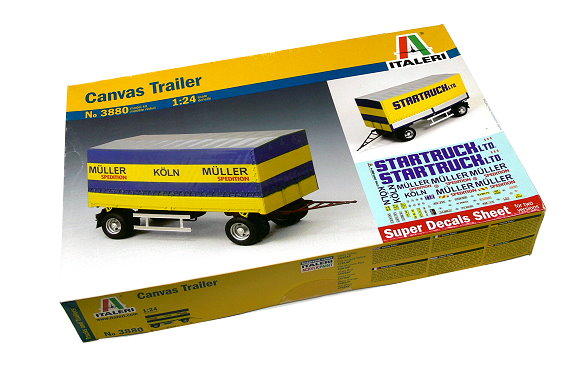 ITALERI Truck & Trailers Model 1/24 Canvas Trailer Scale Hobby 3880 T3880
