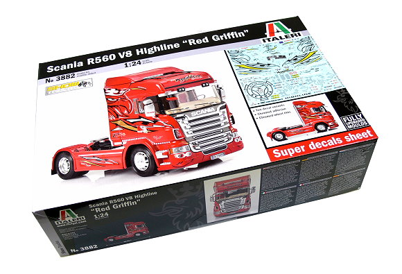 ITALERI Truck & Trailers Model 1/24 Scania R560 V8 Highline Hobby 3882 T3882