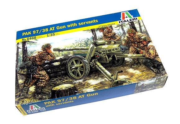 ITALERI Military Model 1/35 PA 97/38 AT Gun with servants Scale Hobby 6460 T6460