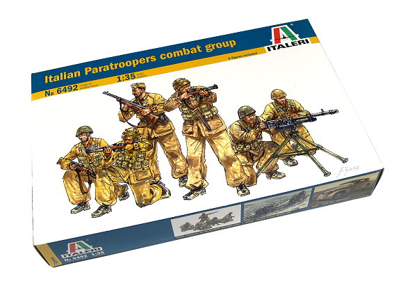 ITALERI Military Model 1/35 Italian Paratroopers Combat Group Hobby 6492 T6492