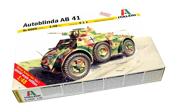 ITALERI Military Model 1/48 Autoblinda AB 41 Scale Hobby 6605 T6605