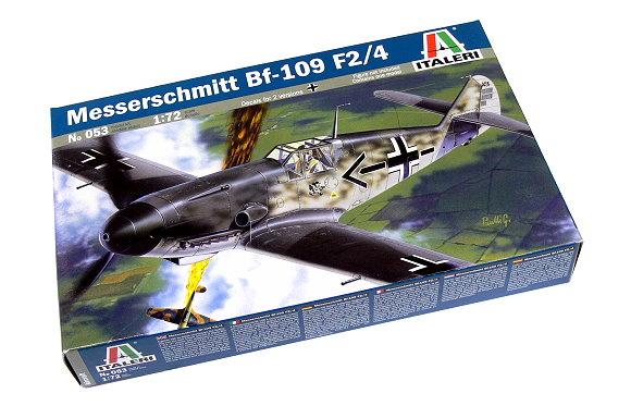 ITALERI Aircraft Model 1/72 Messerschmitt Bf-109 F2/4 Scale Hobby 053 T0053