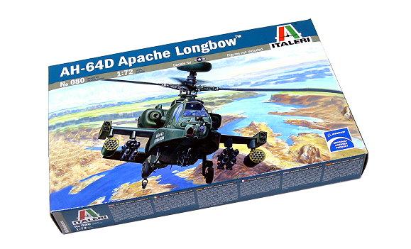 ITALERI Helicopter Model 1/72 AH-64D Apache Longbow Scale Hobby 080 T0080