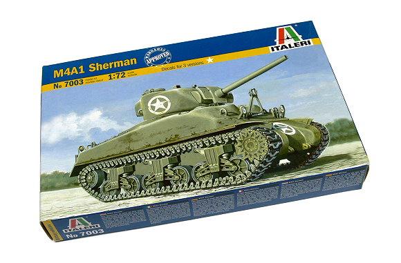 ITALERI Military Model 1/72 M4A1 Sherman Scale Hobby 7003 T7003