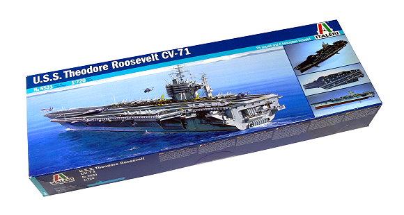 ITALERI Military Model 1/720 War Ship U.S.S. Theodore Roosevelt CV-71 5531 AA003