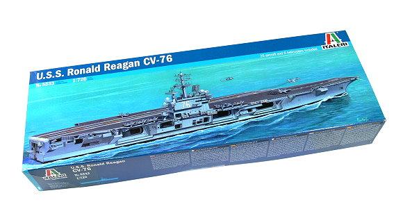 ITALERI Military Model 1/720 War Ship U.S.S. Ronald Reagan CV-76 5533 AA002