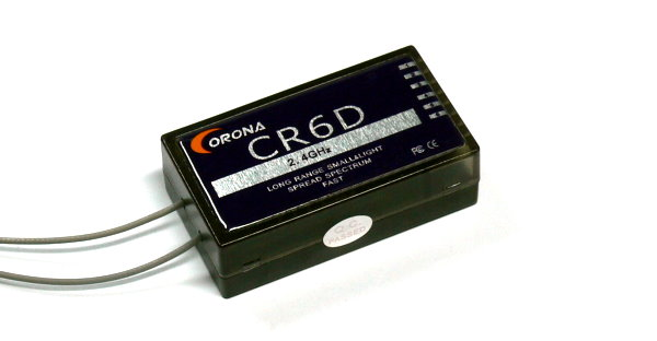 Corona RC Model CR6D 6ch 2.4GHz R/C Hobby DSSS Micro Receiver RV206