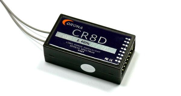 Corona RC Model CR8D 8ch 2.4GHz R/C Hobby DSSS Micro Receiver RV205