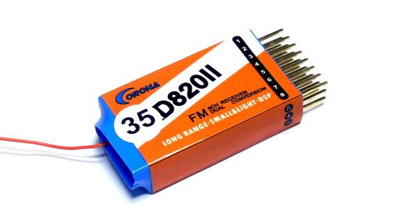 Corona RC Model RD820II 8ch 35MHz R/C Hobby Dual Conversion Receiver RV204