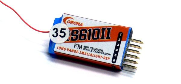 Corona RC Model RS610II 6ch FM 35MHz R/C Hobby Micro Receiver RV341