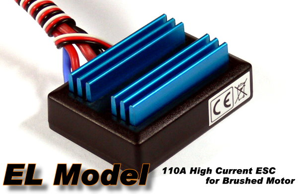 EL Model 110A RC Ship & Boat R/C Hobby Brushed Motor Speed Controller ESC SE082