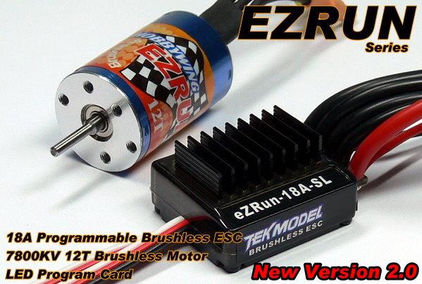 HOBBYWING EZRUN 7800 KV 12T Brushless Motor & 18A ESC Speed Controller CA064