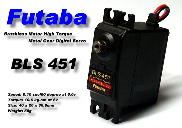 Futaba RC Model BLS451 Metal Gear R/C Hobby Digial Brushless Servo SF995