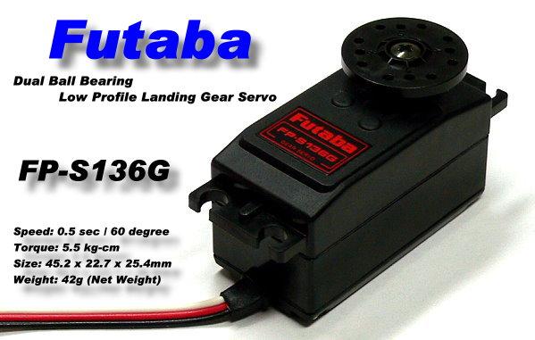 Futaba RC Model FP-S136G Low Profile Landing Gear R/C Hobby Servo SF666