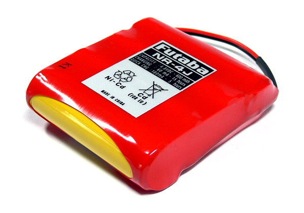 Futaba Model NR-4J 600mAh 4.8V Ni-Cd RC Hobby Receiver Battery FB210