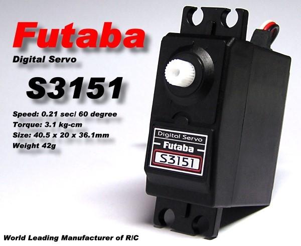 Futaba RC Model S3151 R/C Hobby Digital Servo ( Less Noise Signal ) SF900