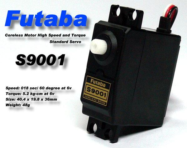 Futaba RC Model S9001 High Speed & Torque R/C Hobby Coreless Servo SF915