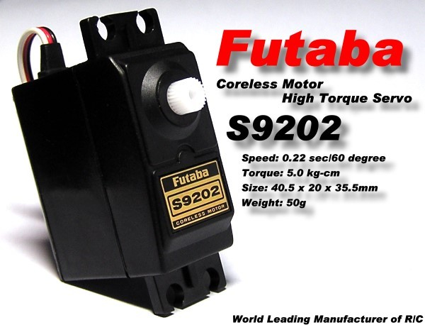 Futaba RC Model S9202 Coreless Motor High Torque R/C Hobby Servo SF930