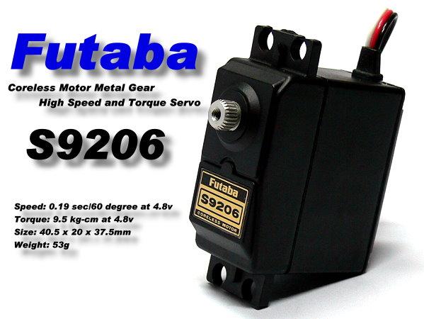 Futaba RC Model S9206 Metal Gear R/C Hobby Coreless Motor Servo SF935